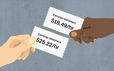 Black-white wage gaps expand with rising wage inequality